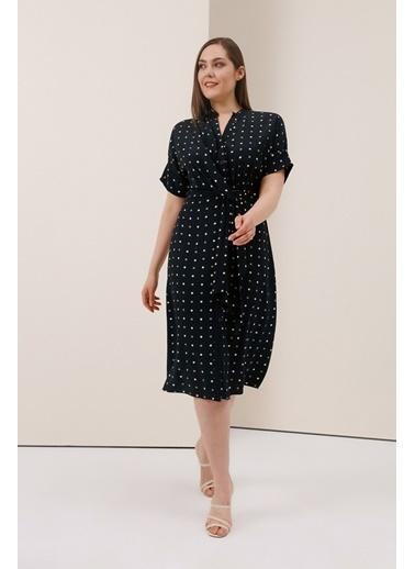 Gusto Anvelop Kesim Düğümlü Elbise - Siyah Anvelop Kesim Düğümlü Elbise - Siyah Siyah